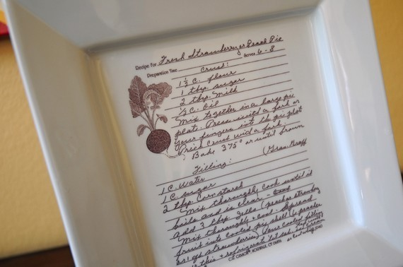 Family Recipe On A Platter By Custom Sepia eclectic