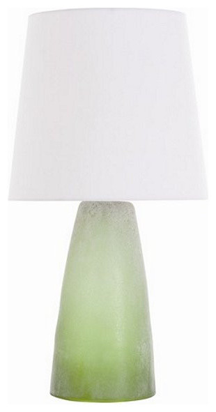 Arteriors Home Chandler Olive Ash Rolled Glass Lamp - Arteriors Home 17032-940 transitional-table-lamps
