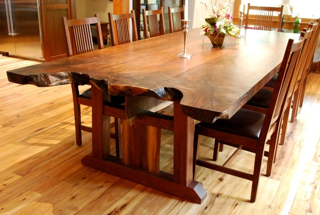 Fine Woodworking Dining Room Tables Live Edge Dining Room Tables NEWwoodworks Craftsman