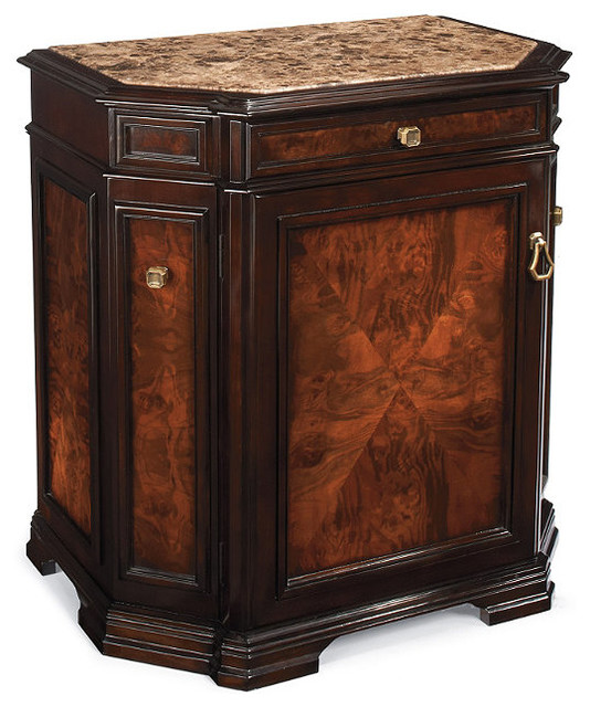 newport mini bar single door cabinet traditional wine