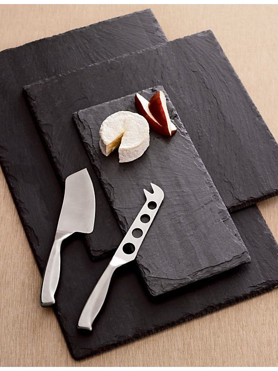 Large Rectangle Slate Board - A cheese course after the main dish and before a sweet dessert is customary in France. You can serve gourmet cheeses with style on these slate cutting boards.