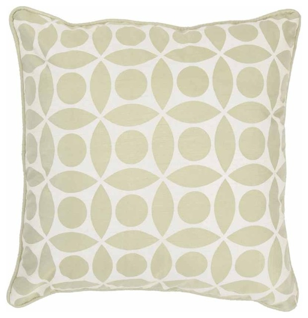 Traditional Accent Pillows : Rizzy Home - Sage and Off White Decorative Accent Pillows (Set of 2) - T03601 - Traditional ...