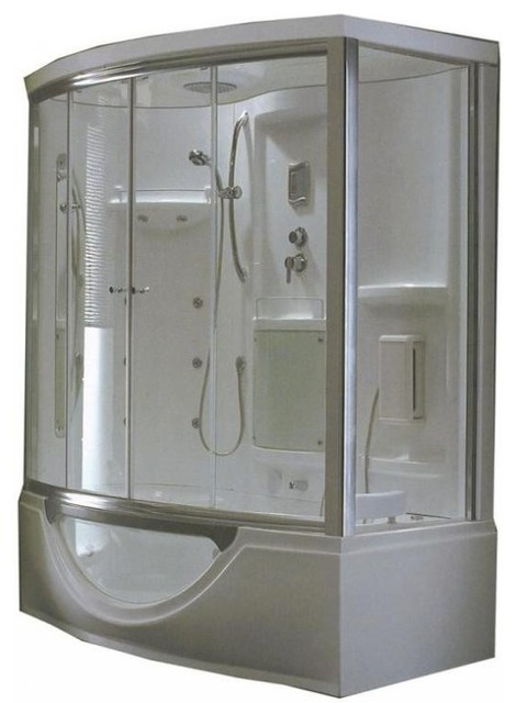 STEAM PLANET 71 x 39 Steam Shower and Sauna With Whirlpool M-K545 - Modern - Saunas - new york ...