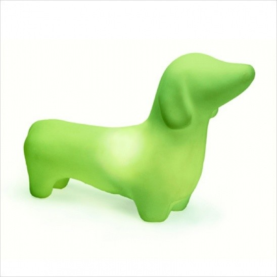 My Pet Lamp Dachshund In Green eclectic-kids-lamps