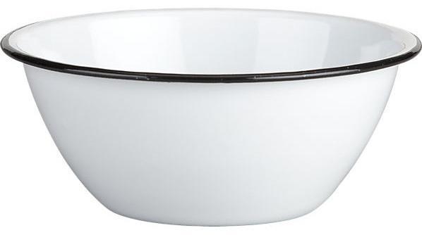 Camper Enamel Bowl - Traditional - Dining Bowls - by CB2