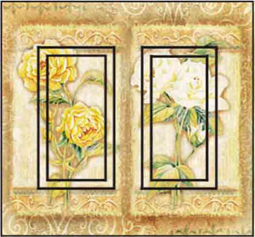 Rose Combo Double Rocker Peel and Stick Switch Plate Cover rustic-wall-decals