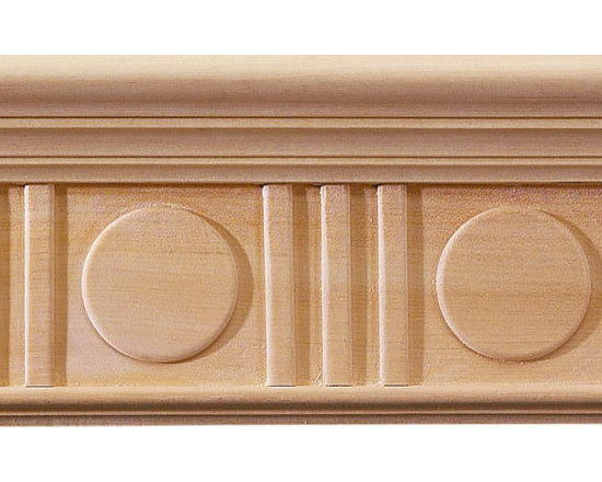 "Inviting Home - Deco Carved Crown Molding - oak wood - red oak hardwood crown molding 6""H x 2-5/16""P x 6-7/16""F sold in 8 foot length 3 piece minimum order required Hand Carved Wood Molding specification: Outstanding quality molding profile milled from high grade kiln dried American hardwood available in bass hard maple red oak and cherry. High relief ornamental design is hand carved into the molding. Wood molding is sold unfinished and can be easily stained painted or glazed. The installation of the wood molding should be treated the same manner as you would treat any wood molding: all molding should be kept in a clean and dry environment away from excessive moisture. acclimate wooden moldings for 5-7 days. when installing wood moldings it is recommended to nail molding securely to studs; pre-drill when necessary and glue all mitered corners for maximum support."