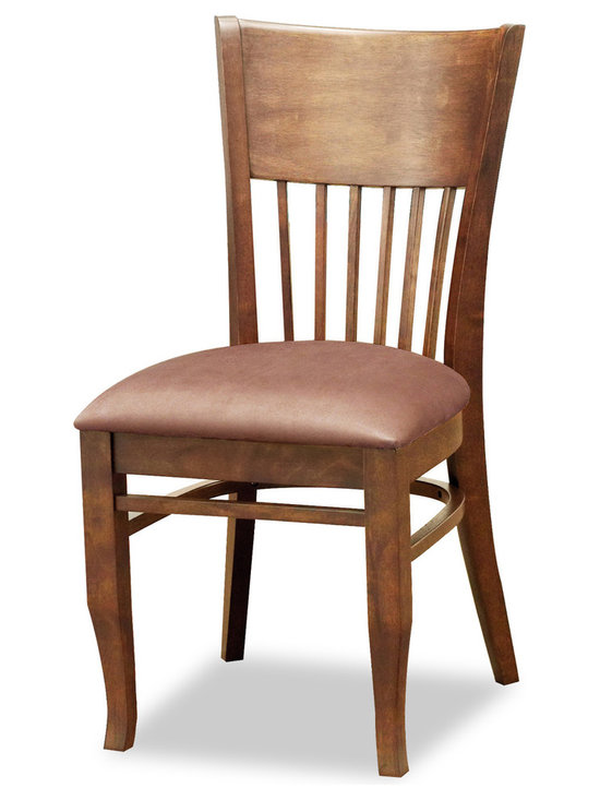 Bryght - Vera Brown Fabric Upholstered Cocoa Dining Chair - The Vera dining chair showcases a timeless and classic vintage design. Simple yet graceful, the Vera dining chair is well suited for all occasions, with its smooth bentwood back with wooden vertical slats and a cozy padded seat in microfiber.