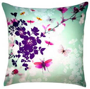 Digitally Printed Silk Butterfly Pillow contemporary-decorative-pillows