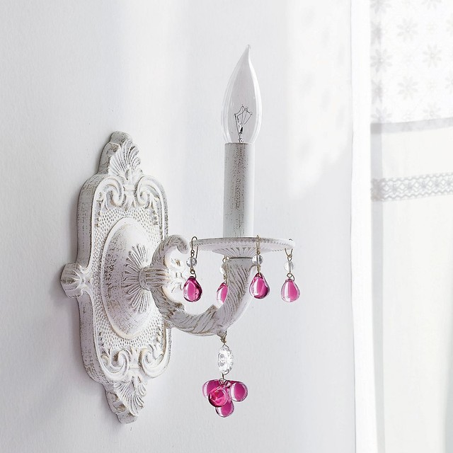 Antiqued Wall Sconce eclectic-kids-lighting