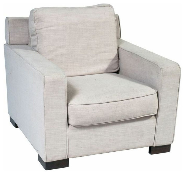 SOLD OUT!  Modern Linen Armchair - $1,198 Est. Retail - $360 on Chairish craftsman-armchairs-and-accent-chairs