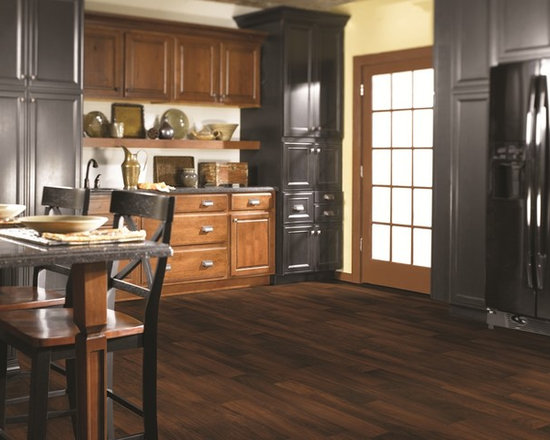 Kent Dark Cherry vinyl sheet flooring from Shaw -