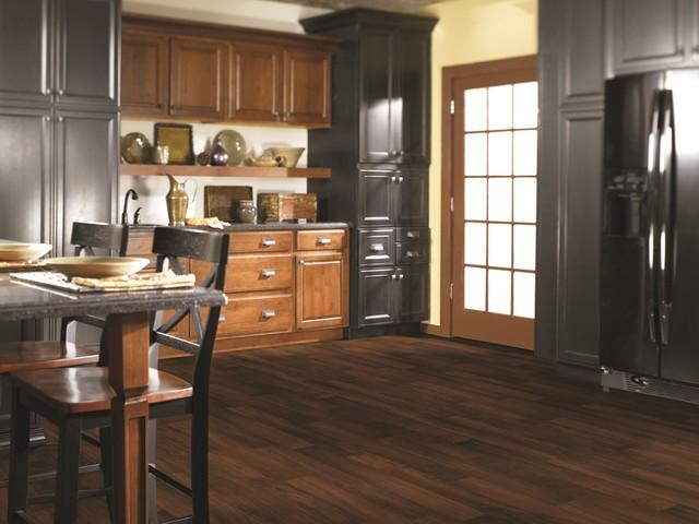 Kent Dark Cherry vinyl sheet flooring from Shaw traditional-vinyl-flooring