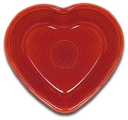 Fiesta Heart Bowl, Scarlet traditional-holiday-decorations