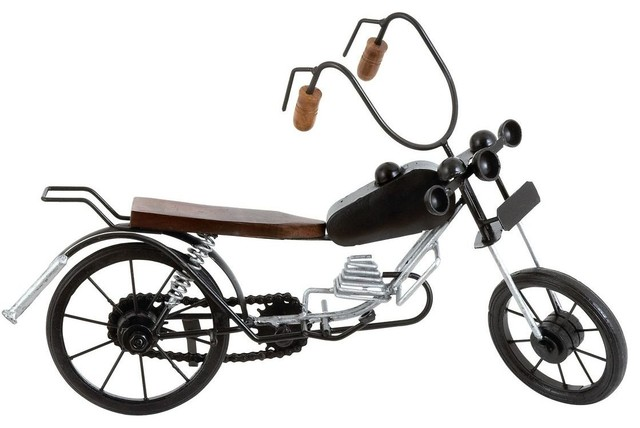 Motorcycle Expertly Crafted Miniature Motorcycle traditional-artwork
