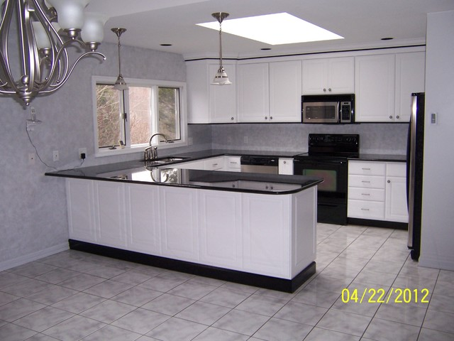 ... Legacy / Concord Door Style / MDF / White traditional-kitchen-cabinets