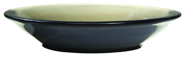 Decolav 2804-SHA Incandescence Round Above Counter Resin Lavatory in Shadow contemporary-bathroom-sinks