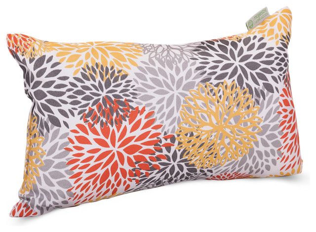 Outdoor Citrus Blooms Small Pillow contemporary-outdoor-cushions-and-pillows