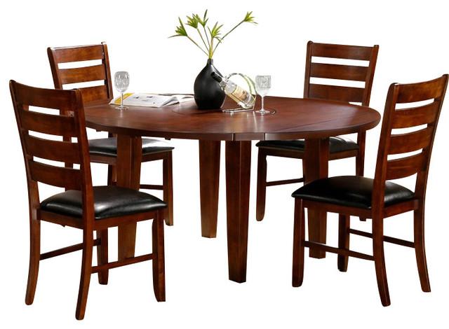 homelegance ameillia 6 piece drop leaf round dining room