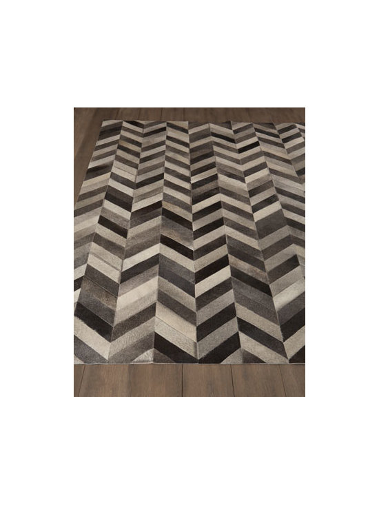Horchow - Chevron Hide Rug - Two home fashion trends—chevron stripes and hairhide—come together for one fabulous rug. Made of hairhide. Size is approximate. Made in the USA. See our Rug Guide for tips on how to measure for a rug, choosing weaves and patterns, and....