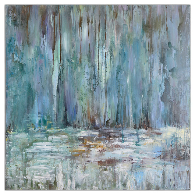Quot Blue Waterfall Quot Art Contemporary Paintings