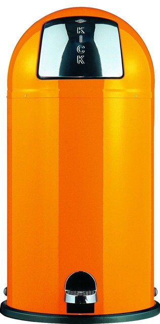 Wesco Kickboy Foot Pedal Bin, Orange - contemporary - kitchen ...