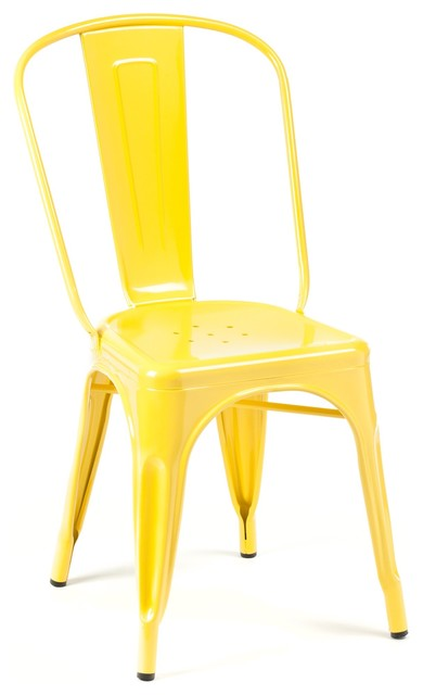 Marais A Side Chair Yellow Industrial Dining Chairs