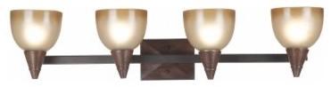 Kenroy Home Kyto 4-Light Vanity 92113DO - 36W in. Dark Oak modern-wall-lighting