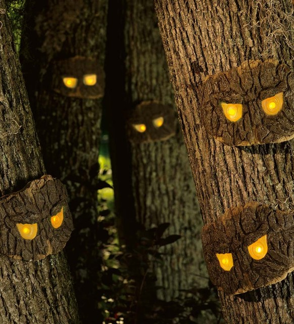 Decorative Halloween Scary Tree Eyes  holiday decorations