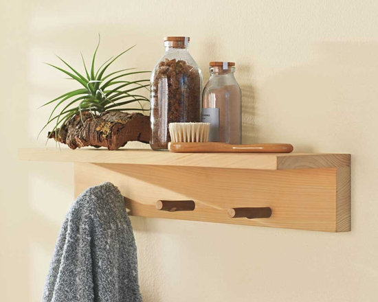"Viva Terra - Hinoki Shelf - Ideally suited to humid environments, our Hinoki accent furnishings resist mold, contain antibacterial agents, suffer no water damage and add their own spicy scent to the room. 19.75""L x 4.75""W x 3.5""H"