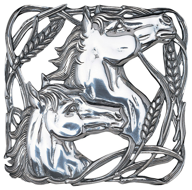 Horse/Wheat Trivet traditional-oven-mitts-and-pot-holders