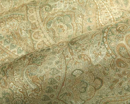 Passet Suede Upholstery Fabric in Army Green - Passat Suede Upholstery Fabric in Army Green is a paisley printed neutral that has a soft texture perfect for upholstering projects or accent pillows. This incredibly detailed pattern adds a beautiful touch of luxury, while the neutral color way is easy to work into many interior designs. Printed on Infinity Suede, made from 100% polyester, this durable upholstery fabric passes 30,000 double rubs on the Wyzenbeek Abrasion Test. Cleaning Code: W; UFAC: Class I; passes CA117 Test. Width 54″. Seam Slippage 48.10 lbs Warp; ASTM D 4157 46.90 lbs Filling; Tensile Strength 105. Lbs warp; ASTM D 4034 345.0 lbs warp.