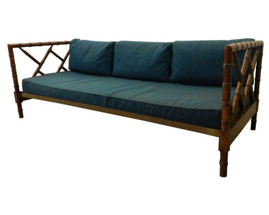 Vintage Faux Bamboo Daybed - Dimensions 77.0ʺW × 32.0ʺD × 27.0ʺH