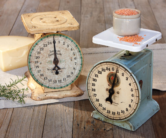 Vintage Kitchen Scales eclectic-timers-thermometers-and-scales