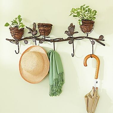Bird Nest Coat Rack contemporary hooks and hangers