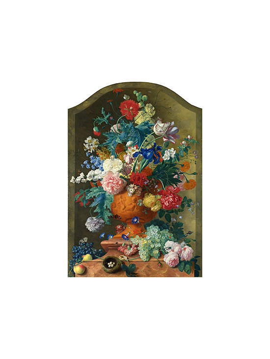 Flowers in a Terracotta Vase, c.1736/37 | Huysum | Canvas Print - Condition: Canvas Print - Unframed