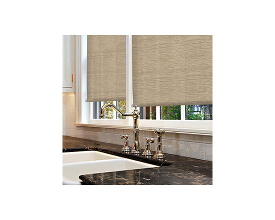 Simply Chic - Kellie Clements Simply Chic Roller Shades: Textures - Simply Chic texture print roller shades have the look of fabric in a durable shade.  Choose the pattern and color you prefer in either light filtering or blackout fabric, depending on your need for privacy and light control.