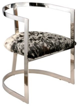 Stainless Steel Hide Chair modern-armchairs-and-accent-chairs