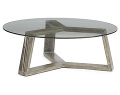 Ion Glass Round Coffee Table contemporary coffee tables