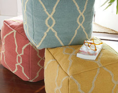 Kate Pouf eclectic pillows