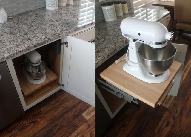 Comfortable Furniture Kitchenaid Mixer Storage In Cabinet