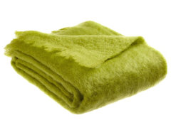Belle Epoque 50-Inch-by-70-Inch Mohair Throw, Lime eclectic-throws