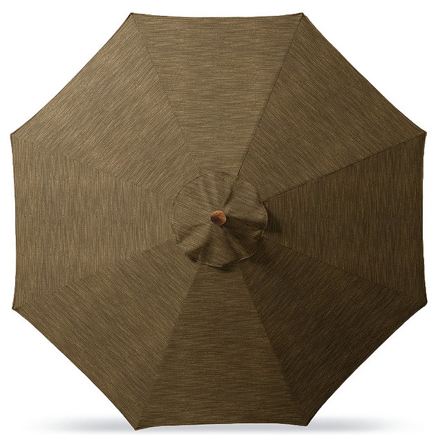 Outdoor Market Patio Umbrella In Sunbrella Gray Beige
