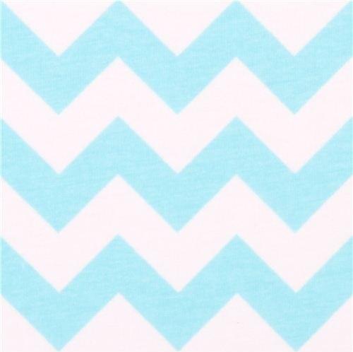 white Riley Blake knit fabric with aqua blue Chevron  :  fabric from www.houzz.com size 500 x 498 jpeg 23kB