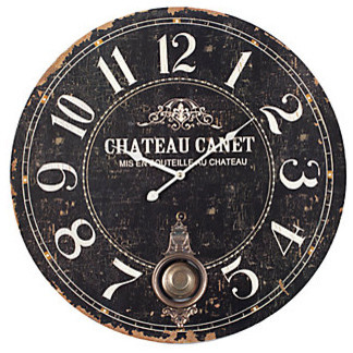 Chateau Canet Wall Clock transitional-wall-clocks