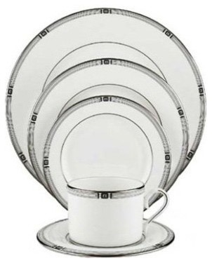 Lenox Westerly Platinum 5-Piece Place Setting modern-dinnerware-sets