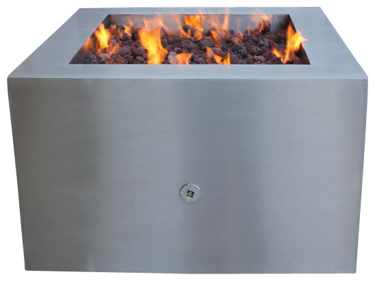 Stainless Steel Fire Pit, Pit for Logs - Contemporary ...