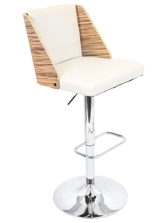 Galanti Bar Stool - ZEBRA/CREAM