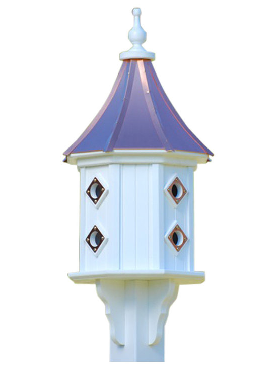 Vinyl Dovecote Birdhouse - Wrens and warblers alike will love to come home to roost in this charming architectural birdhouse. And with its sturdy build and removable roof for cleaning, it's guaranteed to welcome your feathered guests for many years to come.