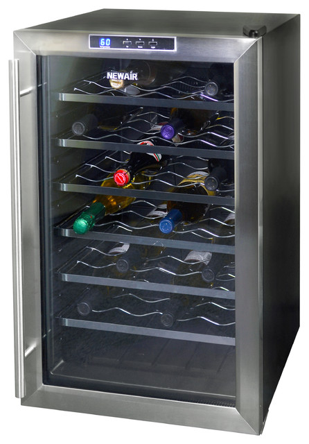 NewAir AW-281E 28 Bottle Thermoelectric Wine Cooler - Beer And Wine Refrigerators - orange ...